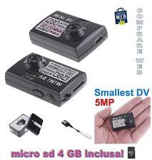 VIDEOCAMERA MINI DV HD MD80 1280x960 5 MPIXEL MICROCAMERA SPIA CIMICE SPY CAM