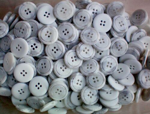 23mm 36L Luz Gris Suave Abstracto jaspeado 4 agujero Craft Botones Botón W720