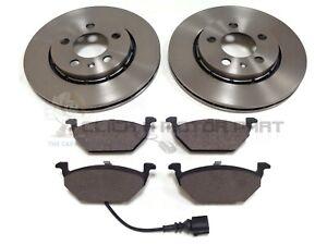 Audi-A2-1-4-1-4-Tdi-1-6-FSI-2000-2005-Frontal-2-Discos-De-Freno-Y-Almohadillas-Set-Nuevo