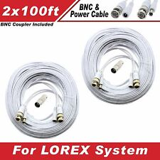 NEW High Quality 4 100FT Thick BNC EXTENSION CABLE for Samsung,Swann,Zmodo,Lorex