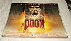 Doom Original UK Quad Movie Cinema Poster 2005 Dwayne Johnson