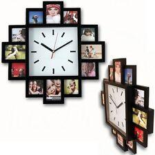 Moderno 12 Multi Foto Colgante familia Portaretrato & tiempo Reloj De Pared Nueva