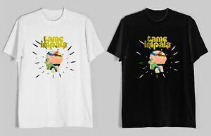 TRIBUTE-TO-TAME-IMPALA-NEW-Men-039-s-Black-White-T-Shirt-Size-S-2XL