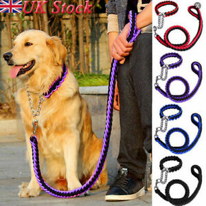 UK-Strong-Dog-Pet-Lead-Leash-Splitter-Coupler-with-Clip-Dag-Chain-Collar-Harness