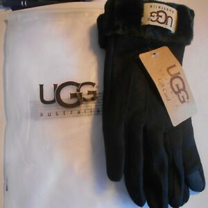 UGG-Women-039-s-winter-gloves-black-brand-new