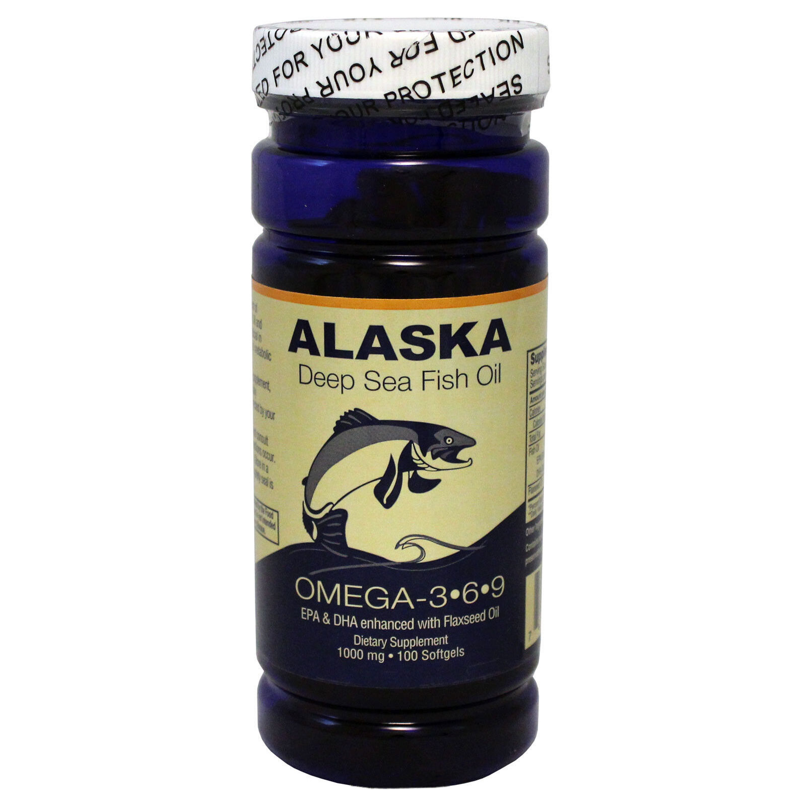 Alaska deep sea fish oil omega 3 6 9 epa dha flaxseed oil for Alaska deep sea fish oil