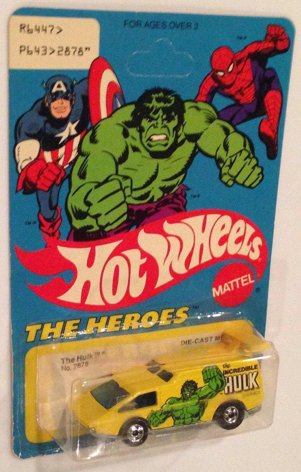 MOC 1978 Hot Wheels The Heroes The Incredible Hulk Spoiler Sport Basic Wheels