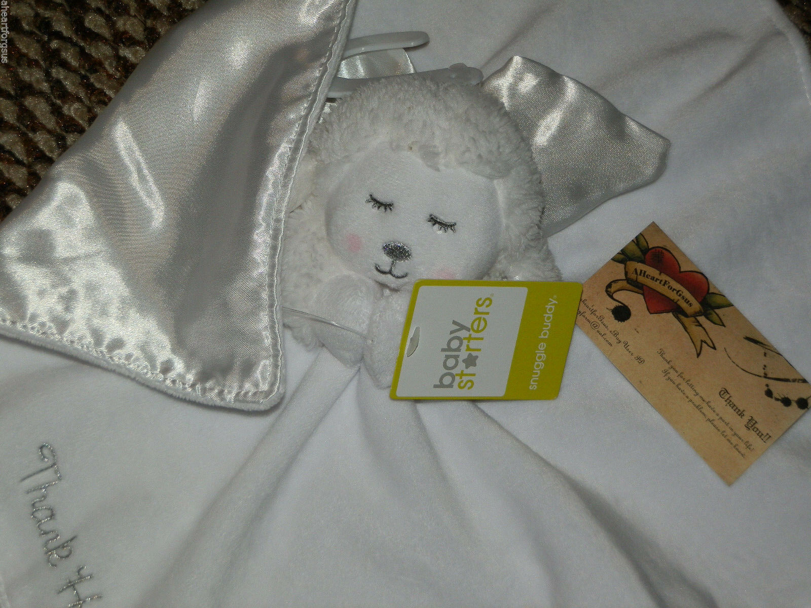 BABY STARTERS SECURITY BLANKET SHEEP ANGEL THANK HEAVEN 4 LITTLE BABIES PRAYING