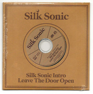 """Silk Sonic NEW SEALED Limited Edition CD single """"Leave The Door Open"""" Mars .Paak"""