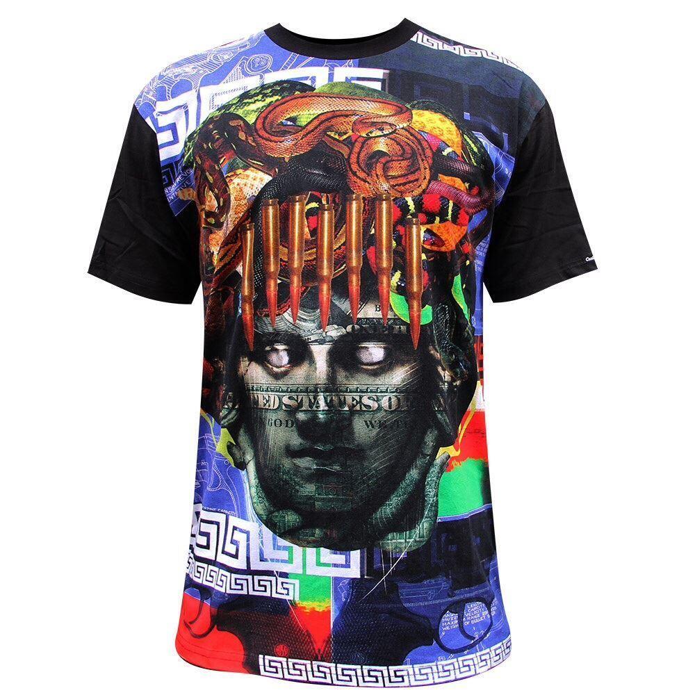 Crooks & Castles Blauprint Men's T-Shirt Schwarz Multi