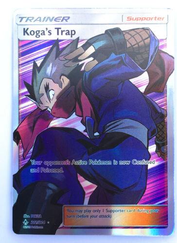 Koga/'s Trap 211//214 Trainer Supporter Pokemon Card Matt Gold Card