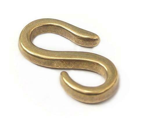 Solid Brass S Open L Size Joint Hook Leather Crafts Hardware Smoky Sumi/'s Store