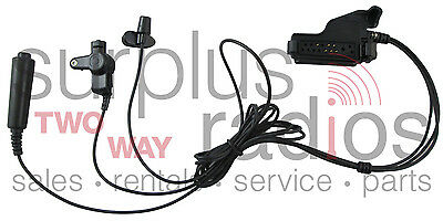 3 WIRE FBI STYLE HEADSET FOR MOTOROLA RADIOS HT1000 MTS2000 XTS3000 XTS5000 MTX