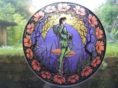 New Age SHADOW MAGIC HANGING WINDOW PRINT-Aries Starsign-Festival Mythical