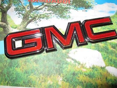GMC emblem badge logo script symbol Yukon Denali Suburban Envoy Sierra OEM Stock