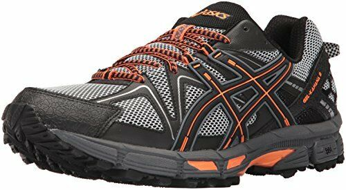 Asic Uomo gel kahana 8 8 8 scarpe da corsa, nero / caldo arancione / carbonio, 10,5 milioni di noi ff339b