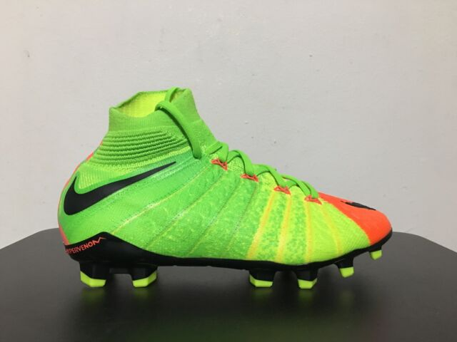 710bea7f351 Nike Jr Hypervenom Phantom 3 DF FG Youth Soccer Cleat 882087 Size ...
