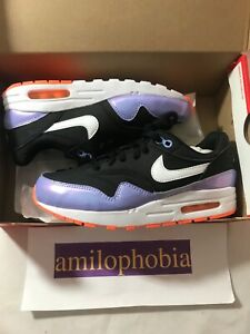 Details about New Youth Nike Air Max 1 (GS) Size 6Y Black White Running Shoes