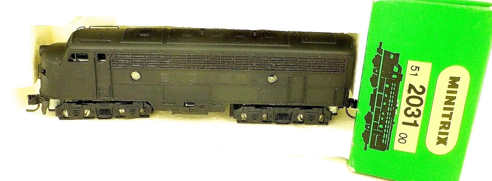 Minitrix 2031 non Décoré black Trix Locomotive Diesel Moteur Hakt N 1 160