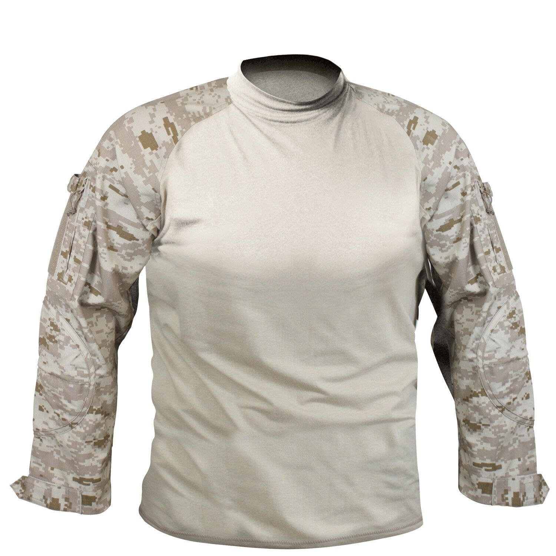 Desert Digital Camo Military Long Sleeve Lightweight Combat Shirt redhco 90020