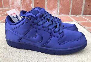 buy popular f6b82 f2a6b Details about NBA X Nike SB Dunk Low TRD Size 8 Mens Royal Blue AR1577-446  Satin RARE
