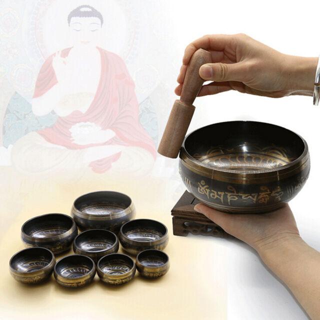 Buddhism Tibetan Hammered Yoga Copper Chakra Hammered Meditation Singing Bowl SE