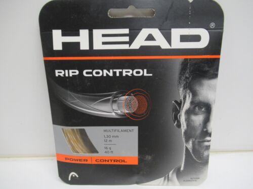 NATURAL MULTIFILAMENT TENNIS STRING **NEW** 2 SET HEAD RIP CONTROL 16 1.30