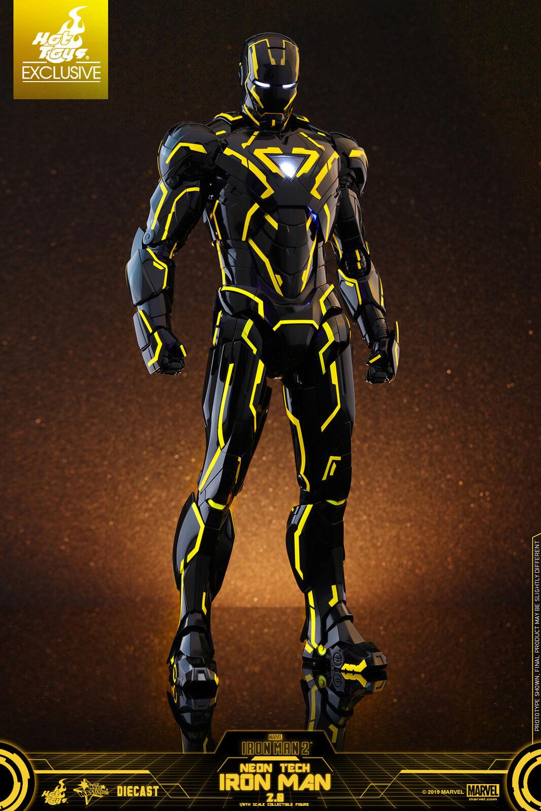 Hot Toys 1 6 Iron Man 2 Mark 6 Neon Tech Jaune Version Exclusive du Japon F S
