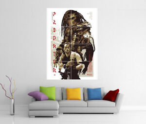 Predator-Schwarzenegger-Riesige-Wand-Kunstdruck-Fotoposter