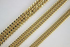 10K-Yellow-Gold-Hollow-Miami-Cuban-Link-Chain-Necklace-4mm-4-5mm-5-5mm-16-034-30-034