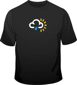 Weather-Symbol-Sunny-Spells-With-Showers-Mens-Loose-Fit-Cotton-T-Shirt