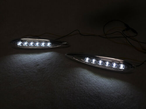 DEPO JDM Crystal Clear White LED Front Side Marker Light For 00-03 Nissan Maxima