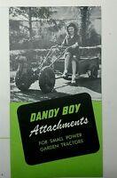 Midland Dandy Boy Garden Tractor Color Sales Brochure +bonus Montgomery Ward 12p