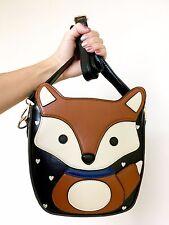 Brown Fox Hearts Faux Leather Harajuku Kawaii Crossbody Bag Handbag
