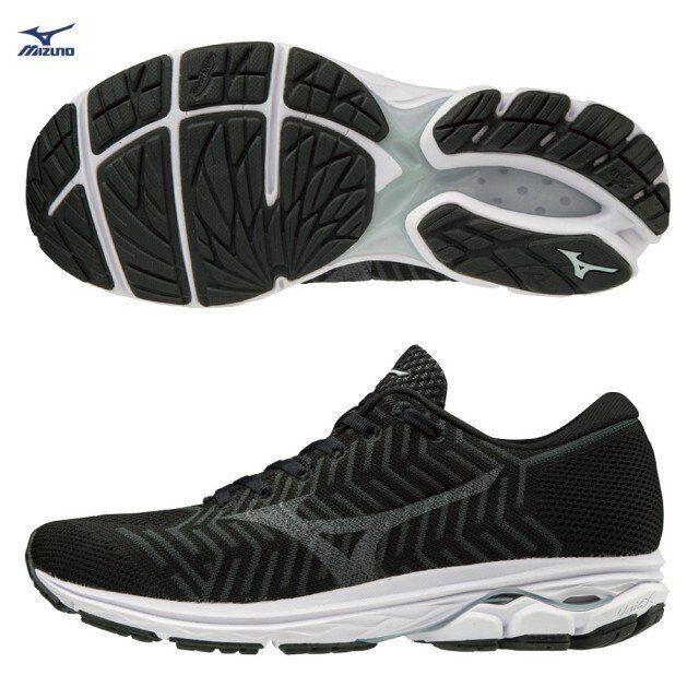 Mizuno waveknit waveknit waveknit R2 Negro blancoo Zapatos deportivos B Ancho De Mujer J1GD182903  productos creativos