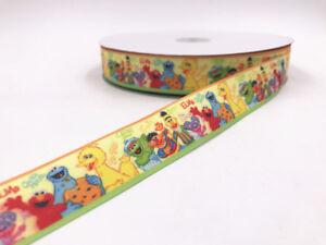 5-10Yard 1/'/' 25MM christmas Printed Grosgrain Ribbon Hair Bow Sewing Ribbon