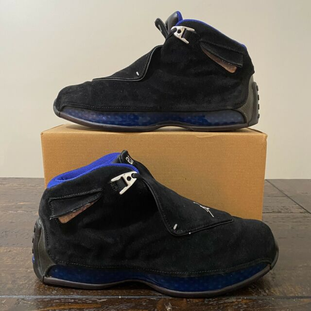 Air Jordan 18 'Black Sport Royal' OG 2003 Size 8.5 Retro 1 2 3 4 5 6 7 8 9 10 11