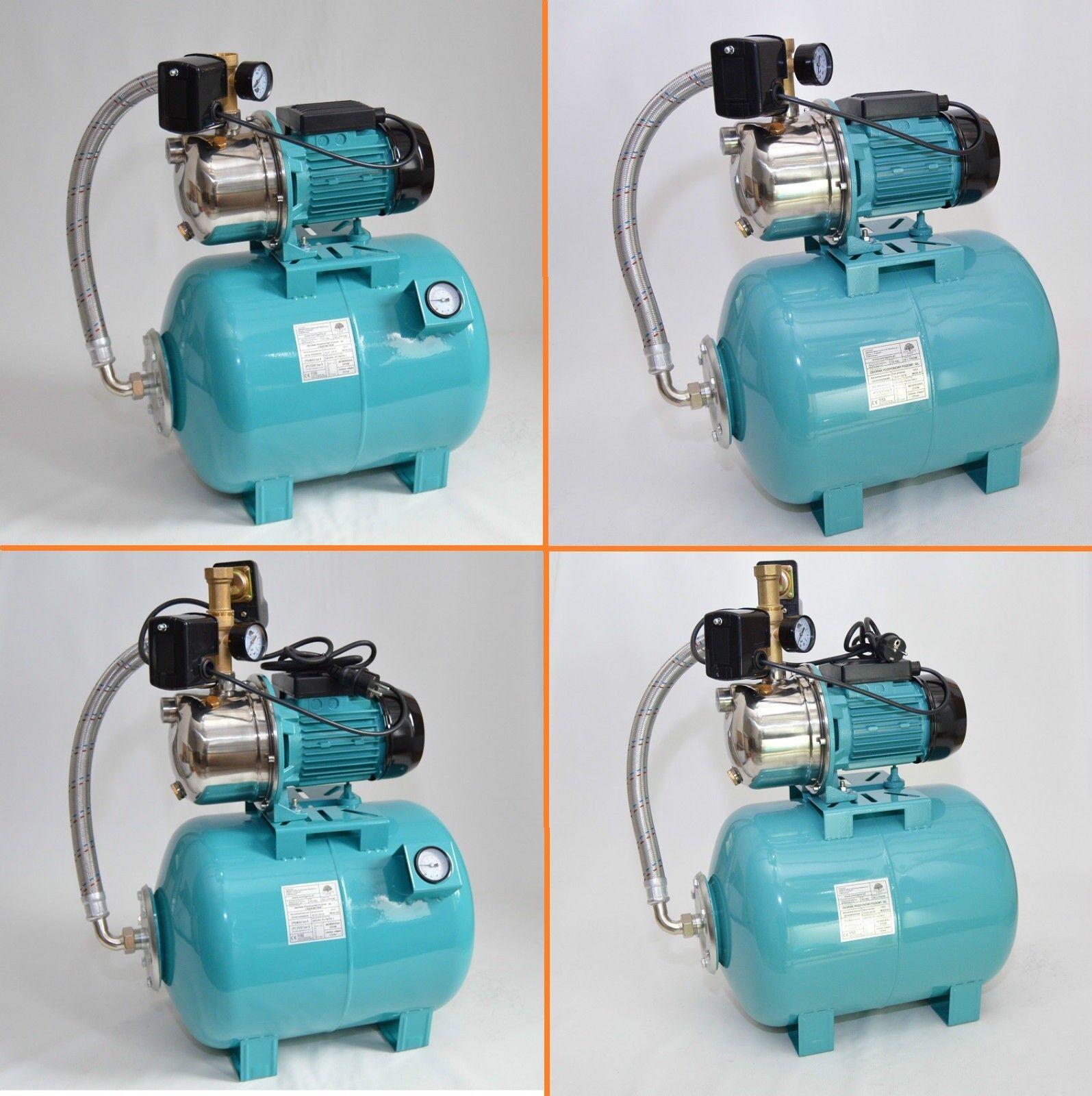 50 L Hauswasserwerk 1100W 5 bar 3600 l h Trockenlaufschutz Luftdruckmanometer