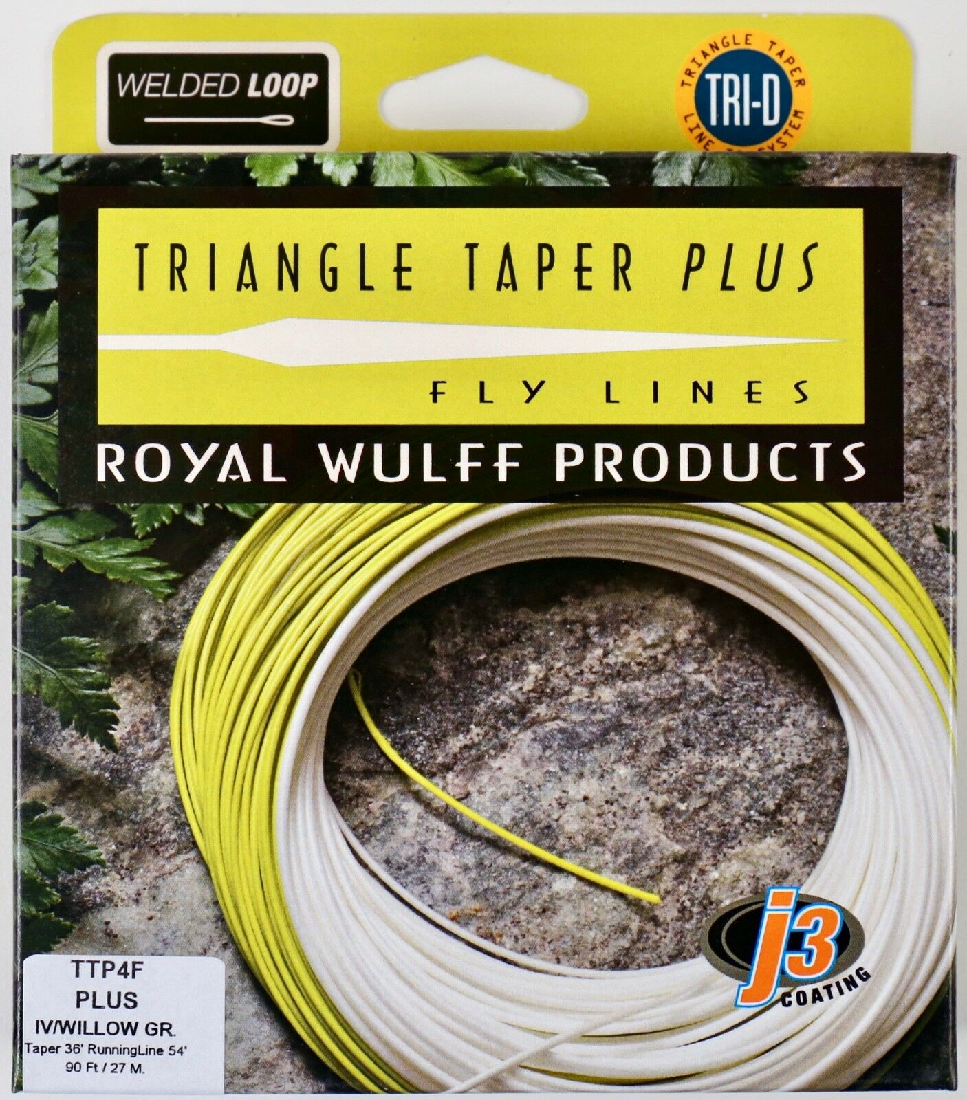 Royal Wulff Triangle Taper Plus 4 WT Floating Fly Line Free Fast Shipping TTP4F