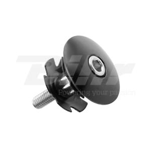 """654-22,2 Tappo fissaggio a ragno per sterzo A-Head in alluminio nero Ø1/"""" Ø22,2mm"""