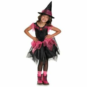 Bubble Gum Witch Wicked Black Pink Fancy Dress Up Halloween Child