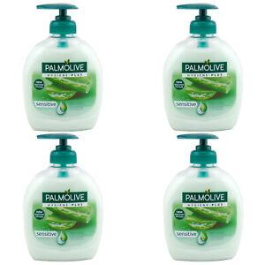 Palmolive-HYGIENE-PLUS-sensitive-Handseife-4-x-300-ml-mit-Spender-Fluessigseife