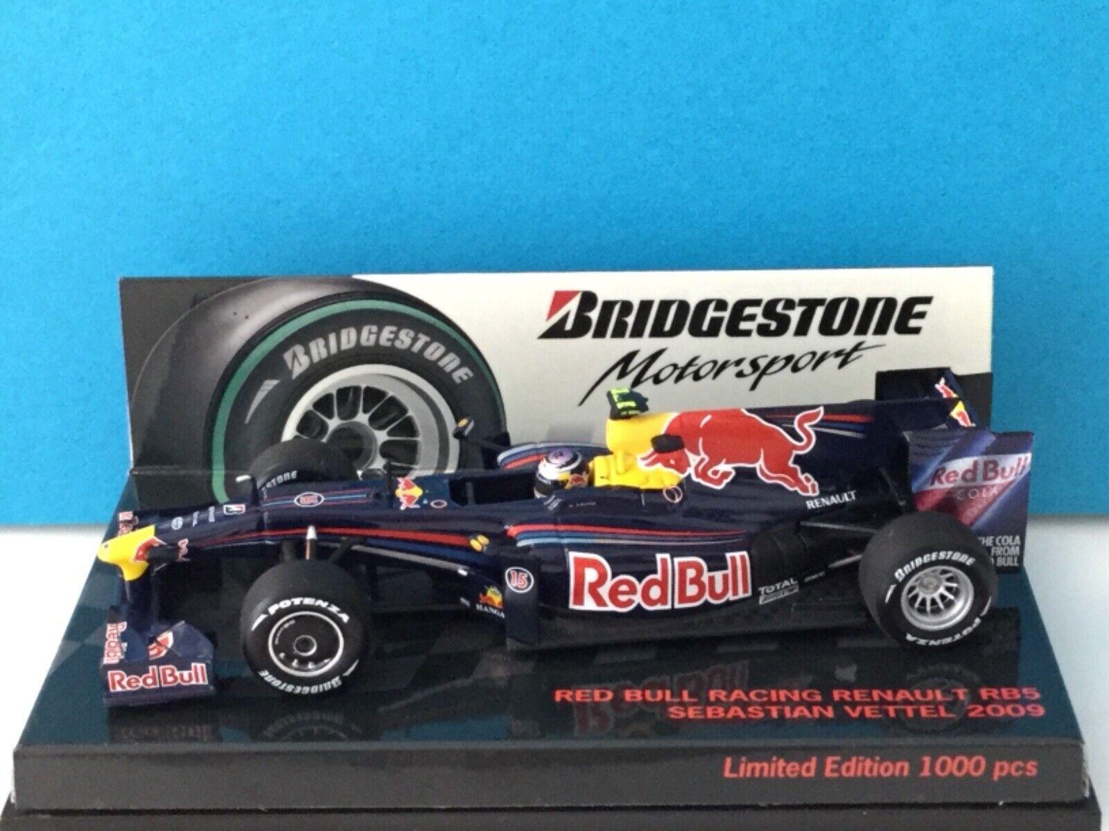 1 43 Minichamps F1 rosso Bull Renault RB5 S. Vettel 2009 Modell-Nr, 403 090015