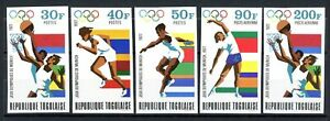 Togo MiNr. 930-34 B postfrisch MNH Olympia 1972 München (Oly1738
