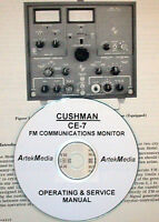 Cushman Ce-7 Fm Communications Monitor Operating & Service Manual