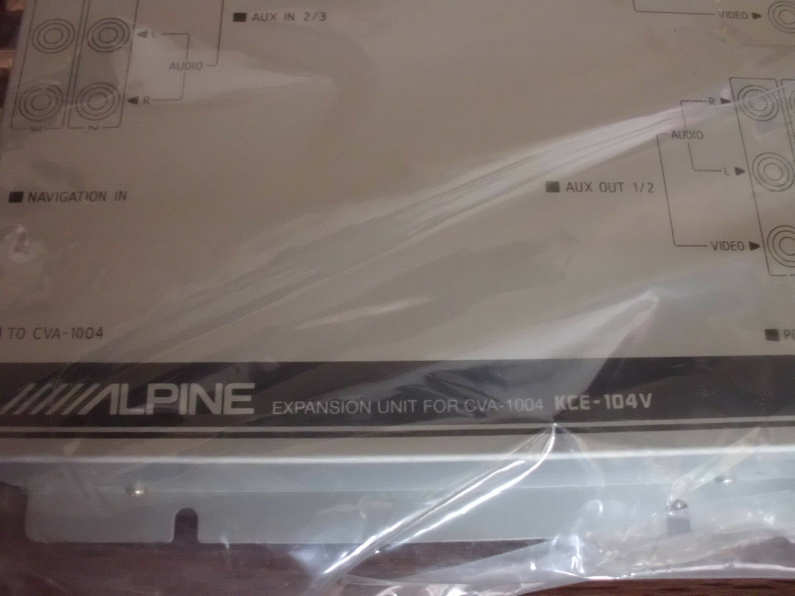 Alpine Kce 104v Input Output Expansion Unit For Cva 1004 Ebay 1005 Wiring Diagram Norton Secured Powered By Verisign