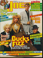 JOEPIE 425 (9/5/82) BUCKS FIZZ MCCARTNEY JOAN JETT BOWIE TURA QUEEN ROSS  (2)