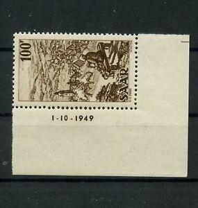 Germany-Saar-Saarland-vintage-yearset-1949-Mi-288-Br-Mint-MNH-2