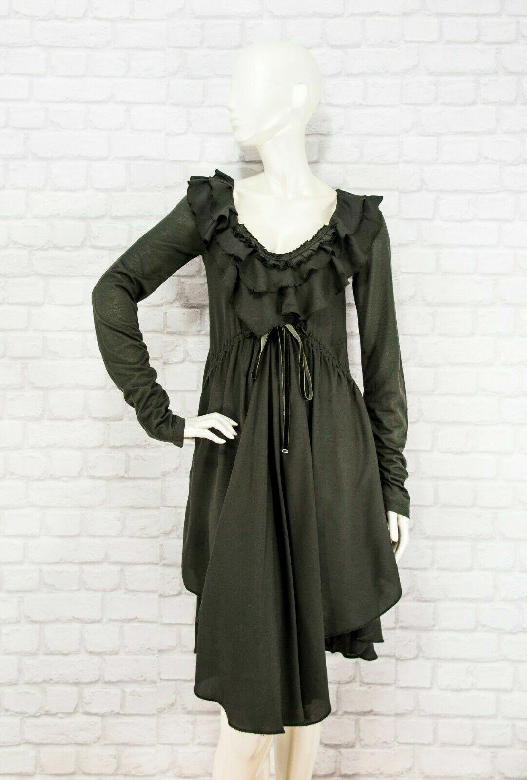 HIGH by Claire Campbell Asymmetrisches Kleid Rüschen Langarm Gr....
