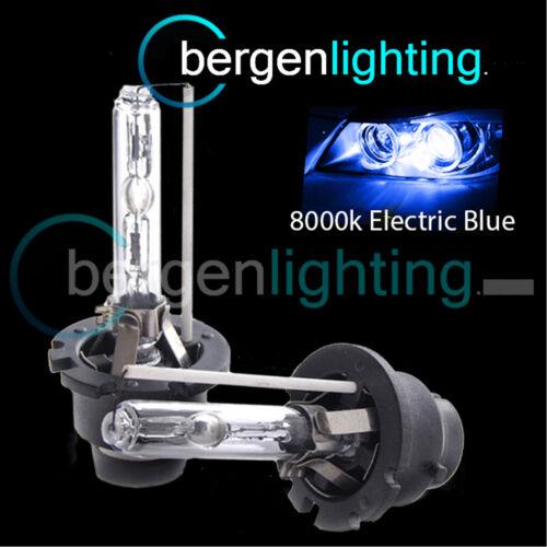 D2S ELECTRIC BLUE XENON HID LIGHT BULBS HEADLIGHT HEADLAMP 8000K 35W OEM FIT 2